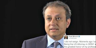 Preet Bharara fired Twitter Donald Trump
