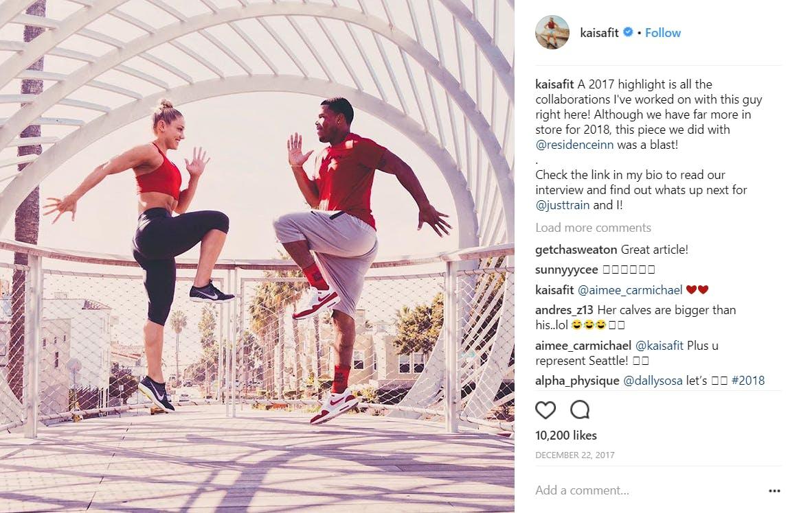 fitness models on instagram : Keisa Keranen