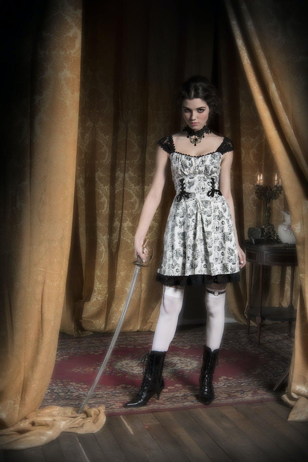 Lace-up sweetheart dress ($54.50)