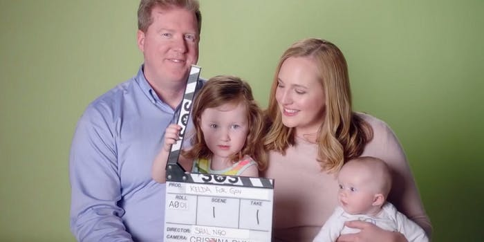 A Democratic candidate for the Wisconsin gubernatorial primary breastfed for a campaign ad.