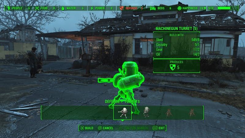 Set up enough turrets like these and raiders won't dare mess with your settlement.