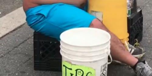 t-rex bucket drum shorts