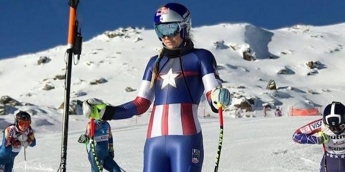 Marvel uniforms ski and snowboard team