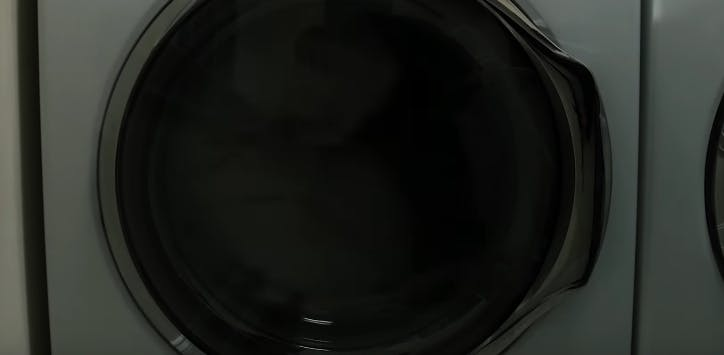 clothes in dryer