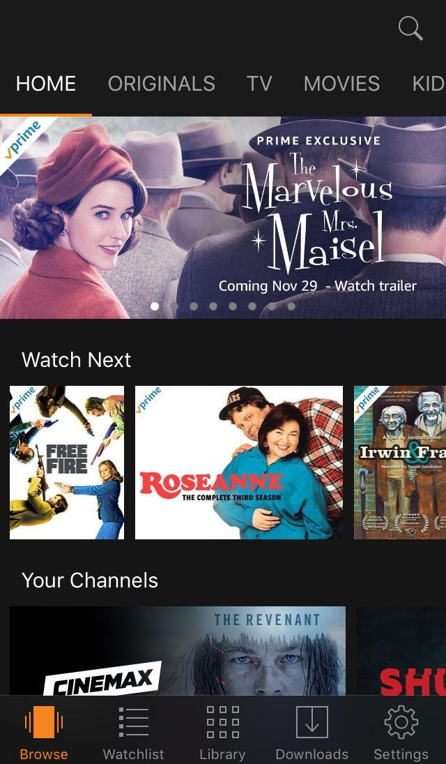 movie app : Amazon Prime