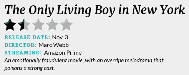The Only Living Boy in New York 1 1/2 star review