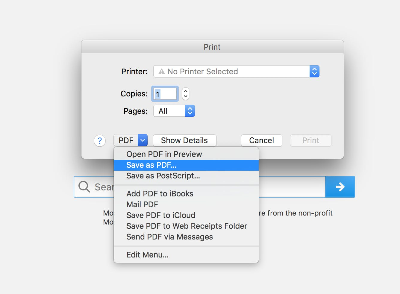 how to edit pdf online : save a webpage